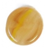 Glass Pressed Beads 8mm Flat Round Khaki